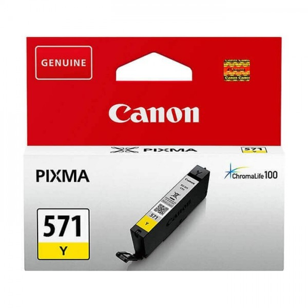 Canon 571 Original Yellow Ink Cartridge
