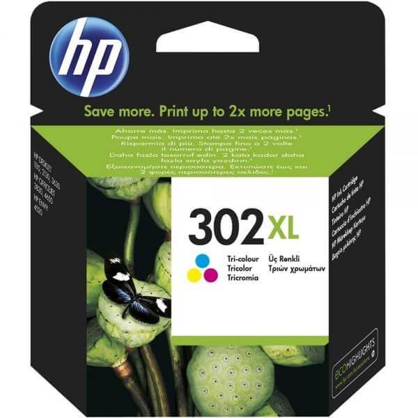 Original HP 302XL Color Ink Cartridge F6U67A