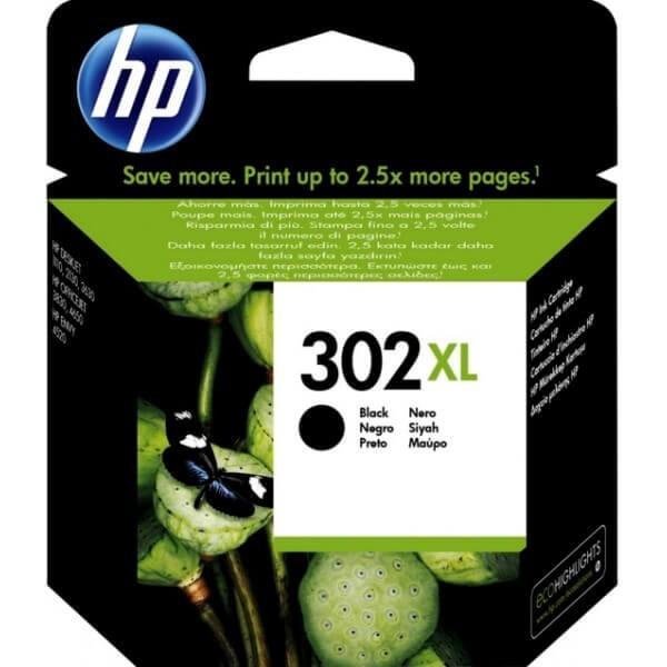 Original HP 302XL Black Ink Cartridge F6U68A
