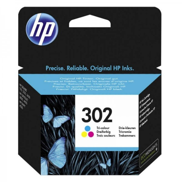 Original HP 302 Color Ink Cartridge F6U65A