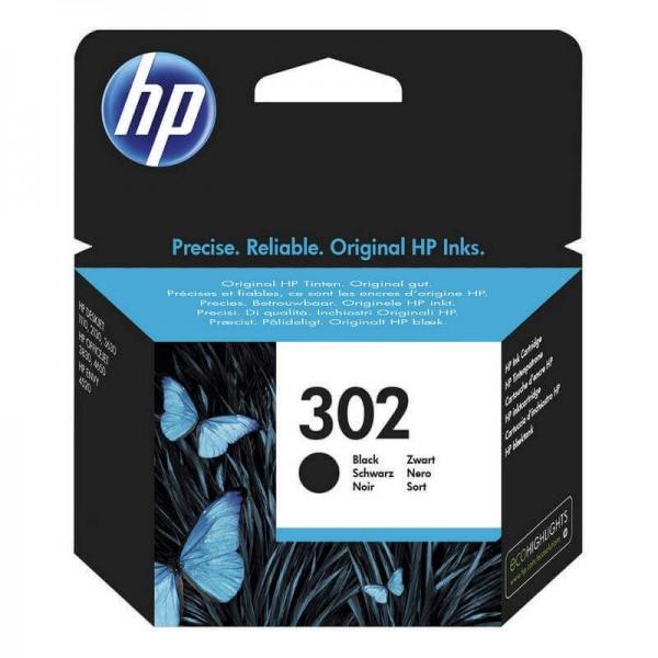 Original HP 302 Black Ink Cartridge F6U66A