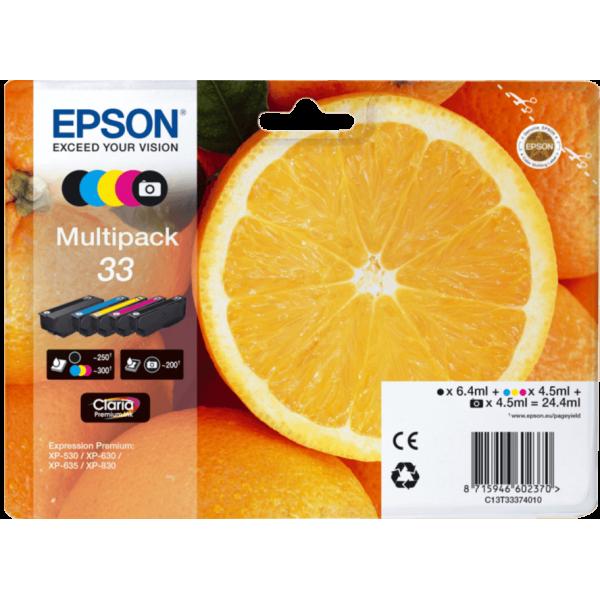 Original Epson T3337 Multipack 5 Color Ink Cartridge