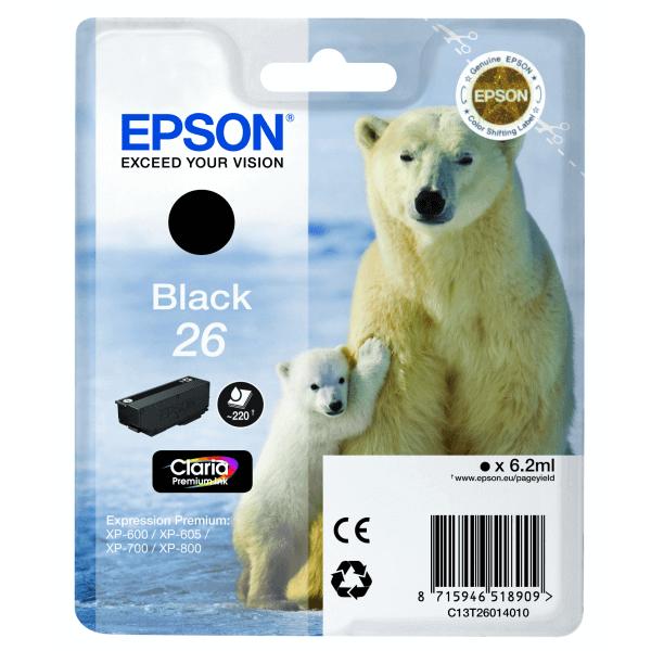 Original Epson T2601 Black Claria Premium Ink Cartridge