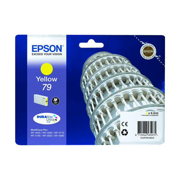 Original Epson T79 Yellow Ink Cartridge C13T79144010