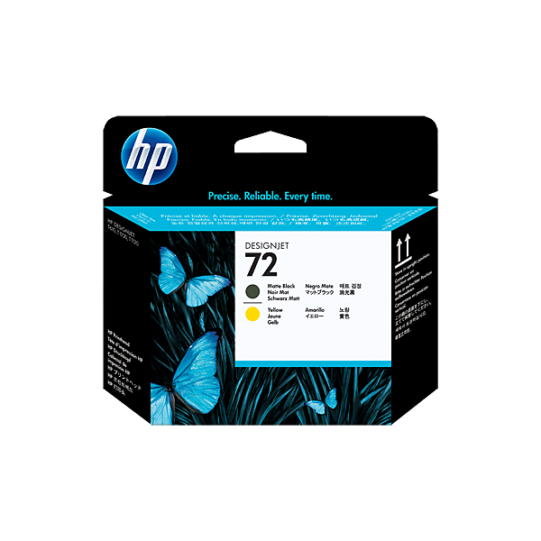 HP 72 Printhead Matte Black / Yellow C9384A