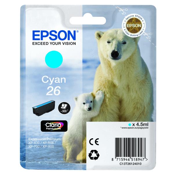 Original Ink Cartridge Epson T2612 Blue Claria Premium