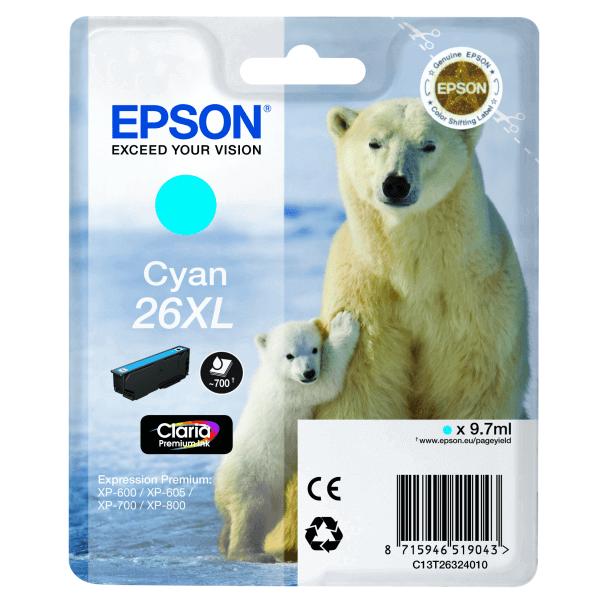 Original Epson T2632 Blue Claria Premium Ink Cartridge