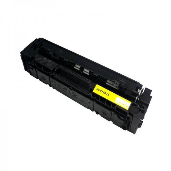 HP CF402X Yellow Laserjet 201X Compatible Toner
