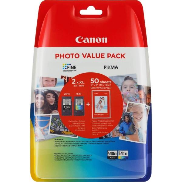 Original Canon PG-540XL / CL-541XL Ink Cartridges Pack