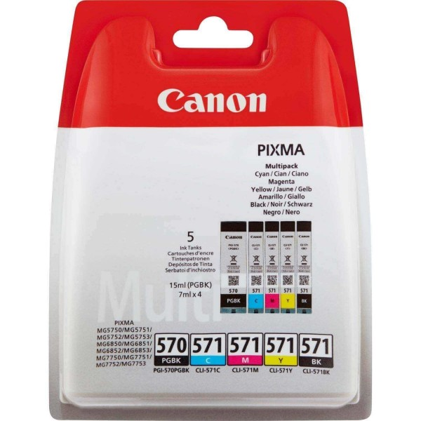 Canon PGI570PGBK Ink Cartridge Pack CLI571CMYK Original