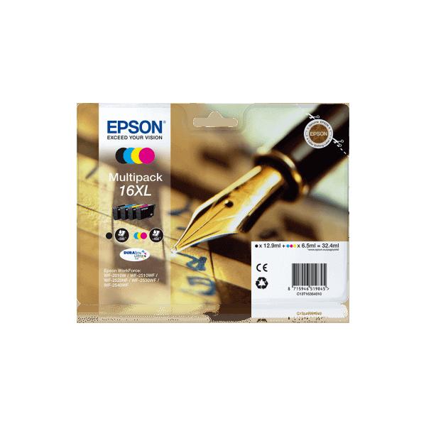 Original Ink Cartridges Epson T1636 XL PACK 4 COLORS C13T16364010