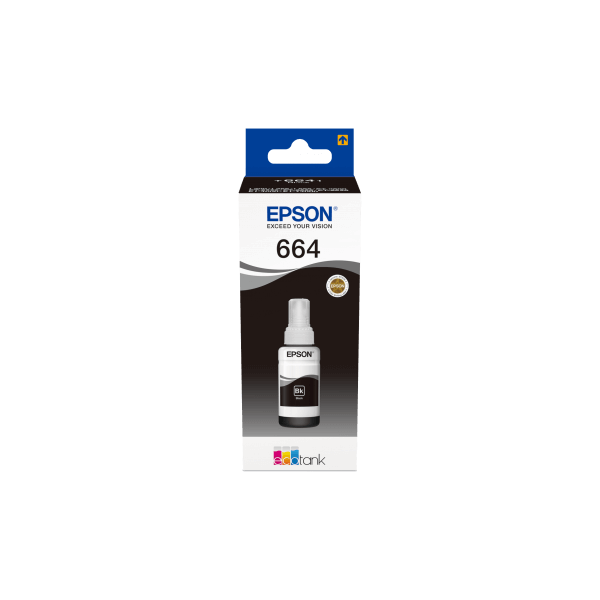 Epson 664 Ecotank Black Ink Bottle 70ml