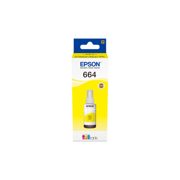 Epson 664 Ecotank Yellow Bottle 70ml Ink