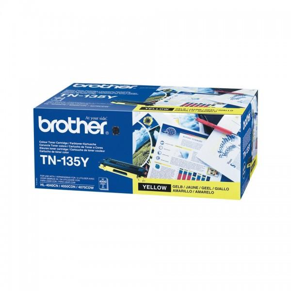 Brother TN135 High Capacity Original Yellow Toner