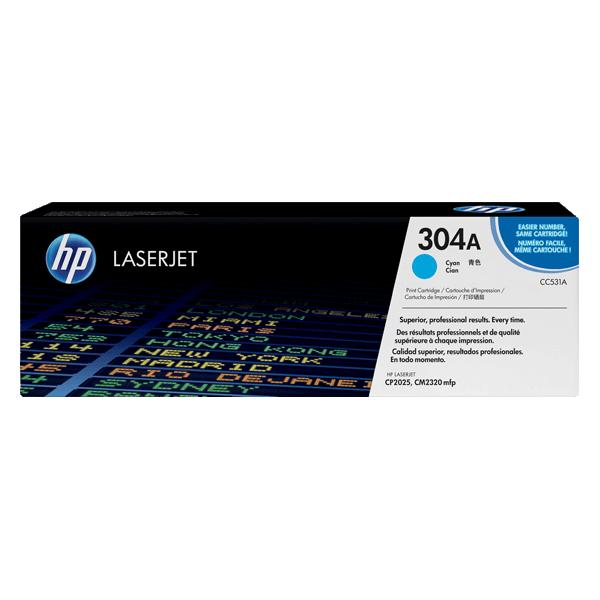 Original HP Toner Cartridge CC531A Blue 304A