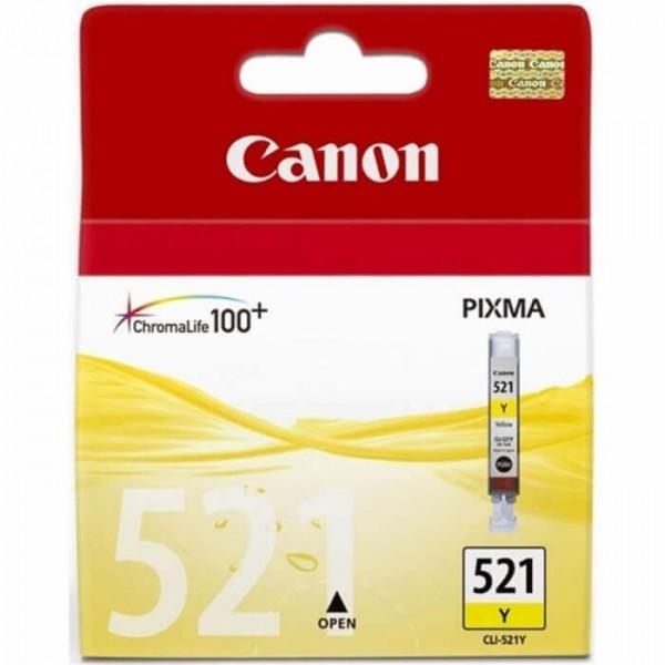 Original Canon 521 Yellow Ink Cartridge