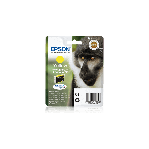 Original Epson T0894 Yellow Ink Cartridge C13T08944011