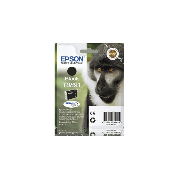 Original Epson T0891 Black Ink Cartridge C13T08914011