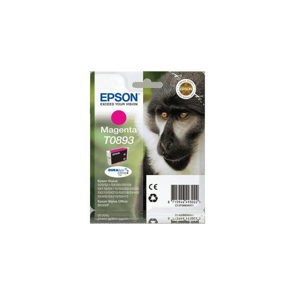 Original Epson T0893 Magenta Ink Cartridge C13T08934011