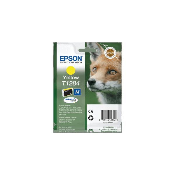 Original Ink Cartridge Epson T1284 Yellow C13T12844011