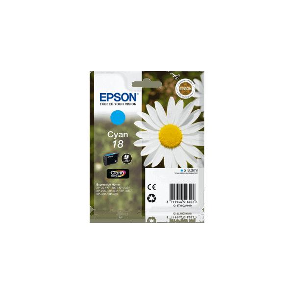 Original Ink Cartridge Epson T1802 Blue C13T18024010