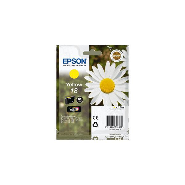 Original Ink Cartridge Epson T1804 Yellow C13T18044010