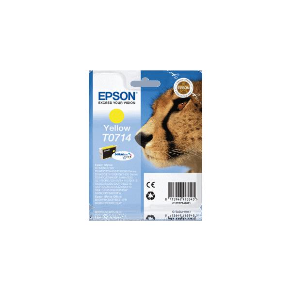Original Epson T0714 Yellow Ink Cartridge C13T07144011