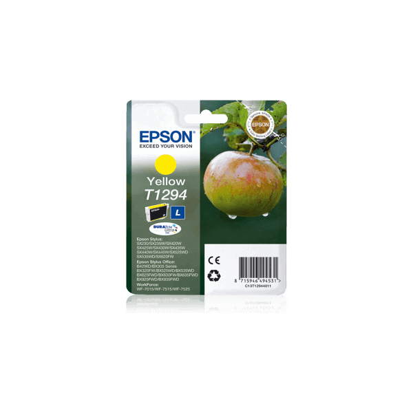 Original Ink Cartridge Epson T1294 Yellow C13T12944011