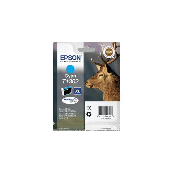 Original Ink Cartridge Epson T1302 Blue C13T13024010