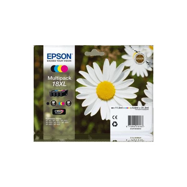 Original Ink Cartridge Epson T1816 XL PACK 4 COLORS C13T18164010
