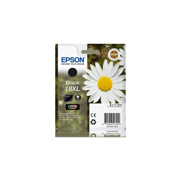 Original Epson T1811 XL Black Ink Cartridge C13T18114010