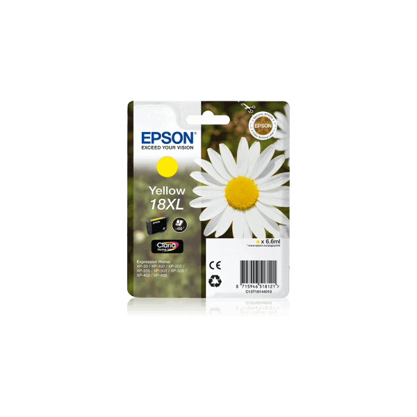 Original Epson T1814 XL Yellow Ink Cartridge C13T18144010